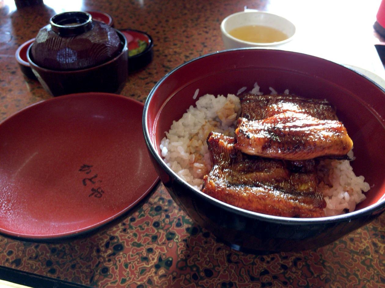 豊川稲荷近くのカドヤのうなぎ丼