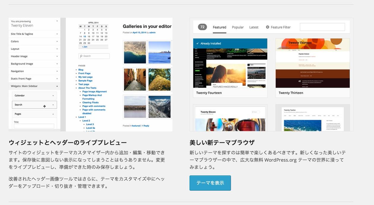 WordPress3.9のその他の機能