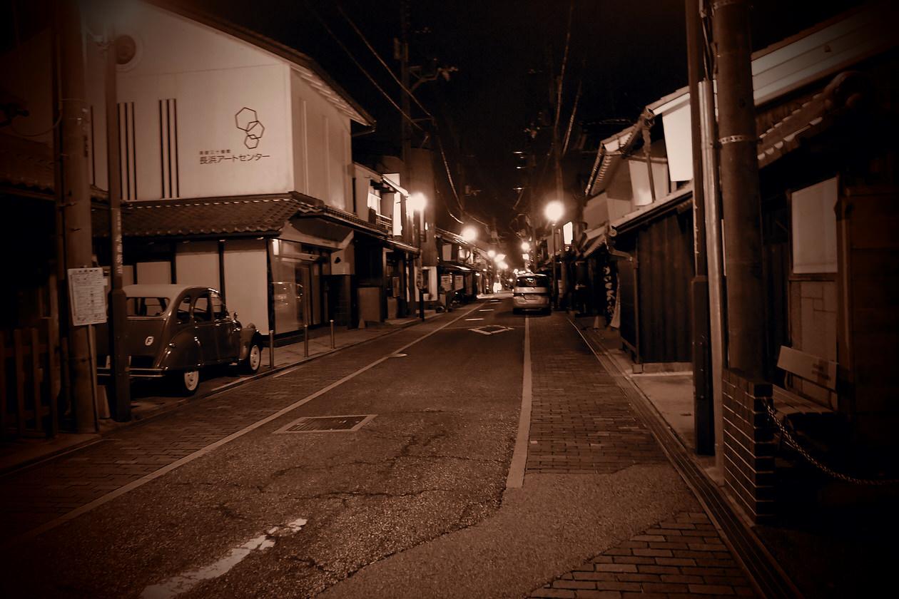 町家をアートフィルターで撮影
