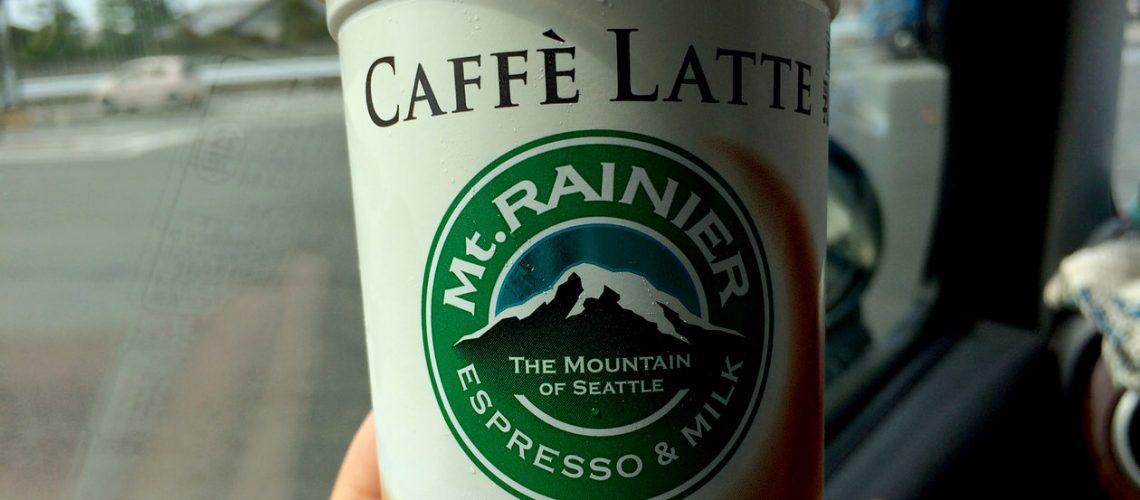 マウントレーニアのカフェラッテ