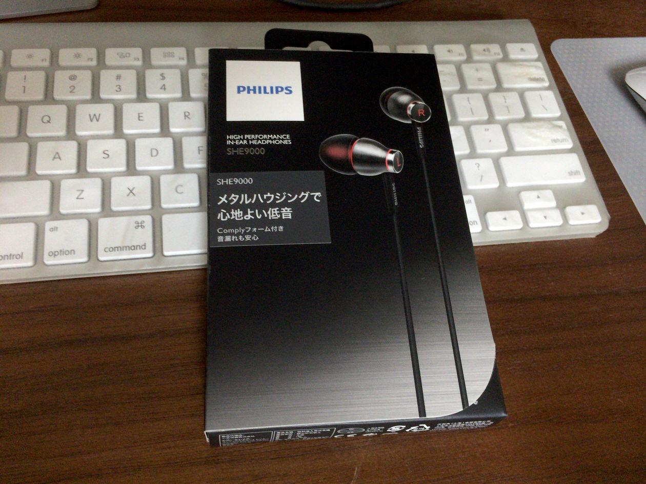 フィリップス カナル型イヤホン ダイナミック ブラック SHE9000/98