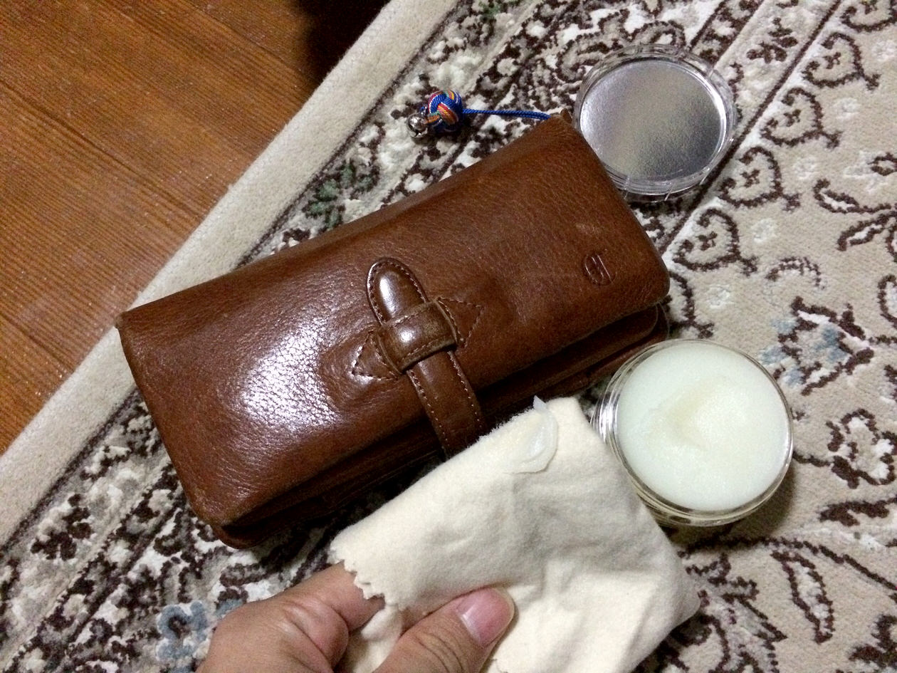 CLEDRANの長財布のケア