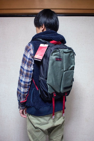 TIMBUK2 SHOWDOWN BACKPACK 着用感