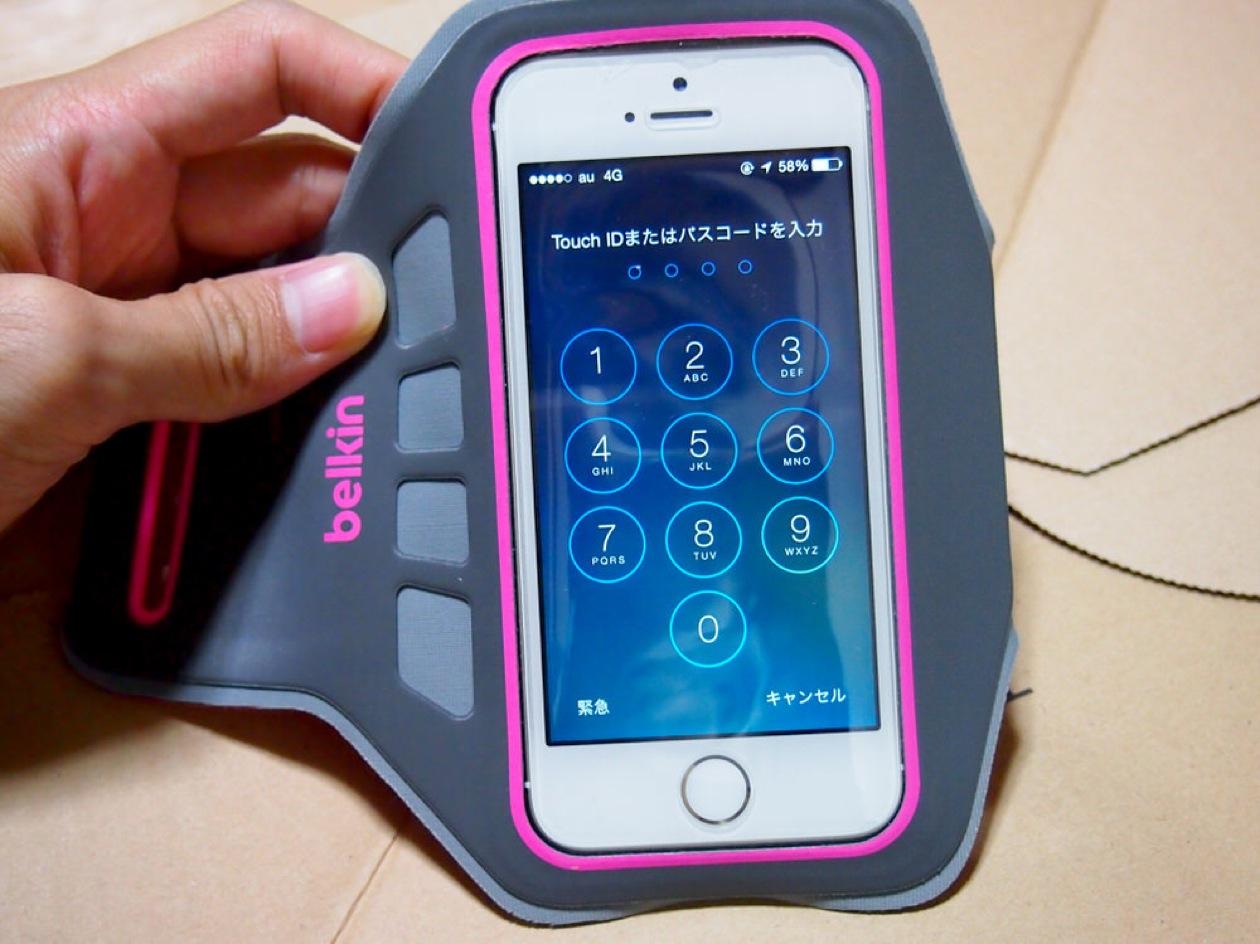BelkinのiPhone5/5S/5C対応アームバンド【Ease Fit Plus】
