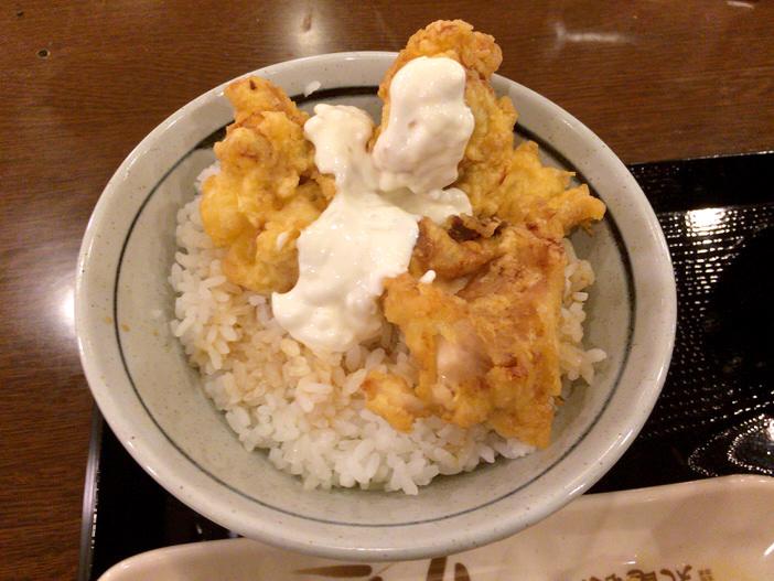 丸亀製麺のタル鶏天アップ1