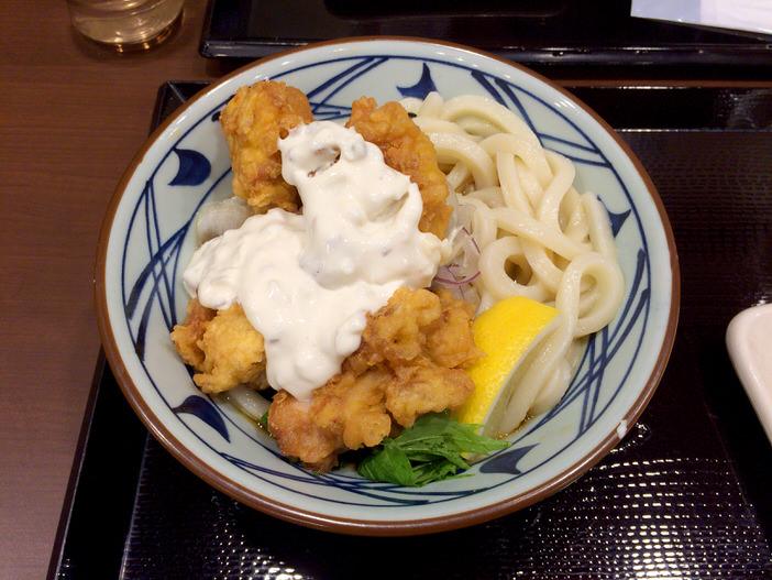 丸亀製麺のタル鶏天ぶっかけ!!