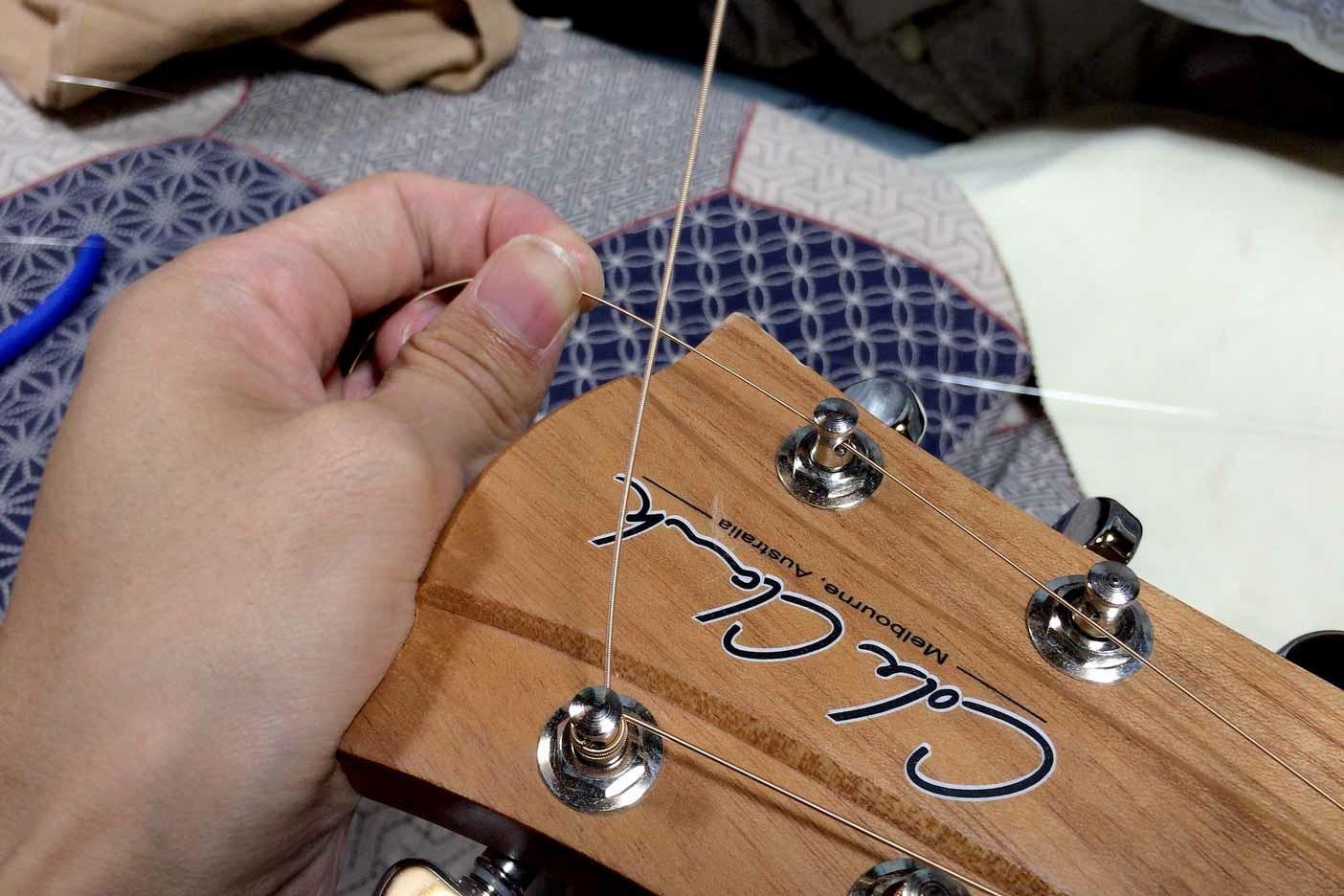 ギターの弦の替え方講座007