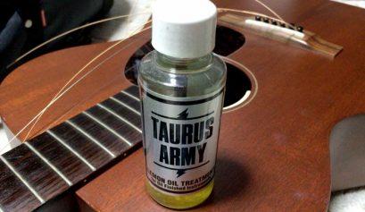 レモンオイルでギターの指板ケア