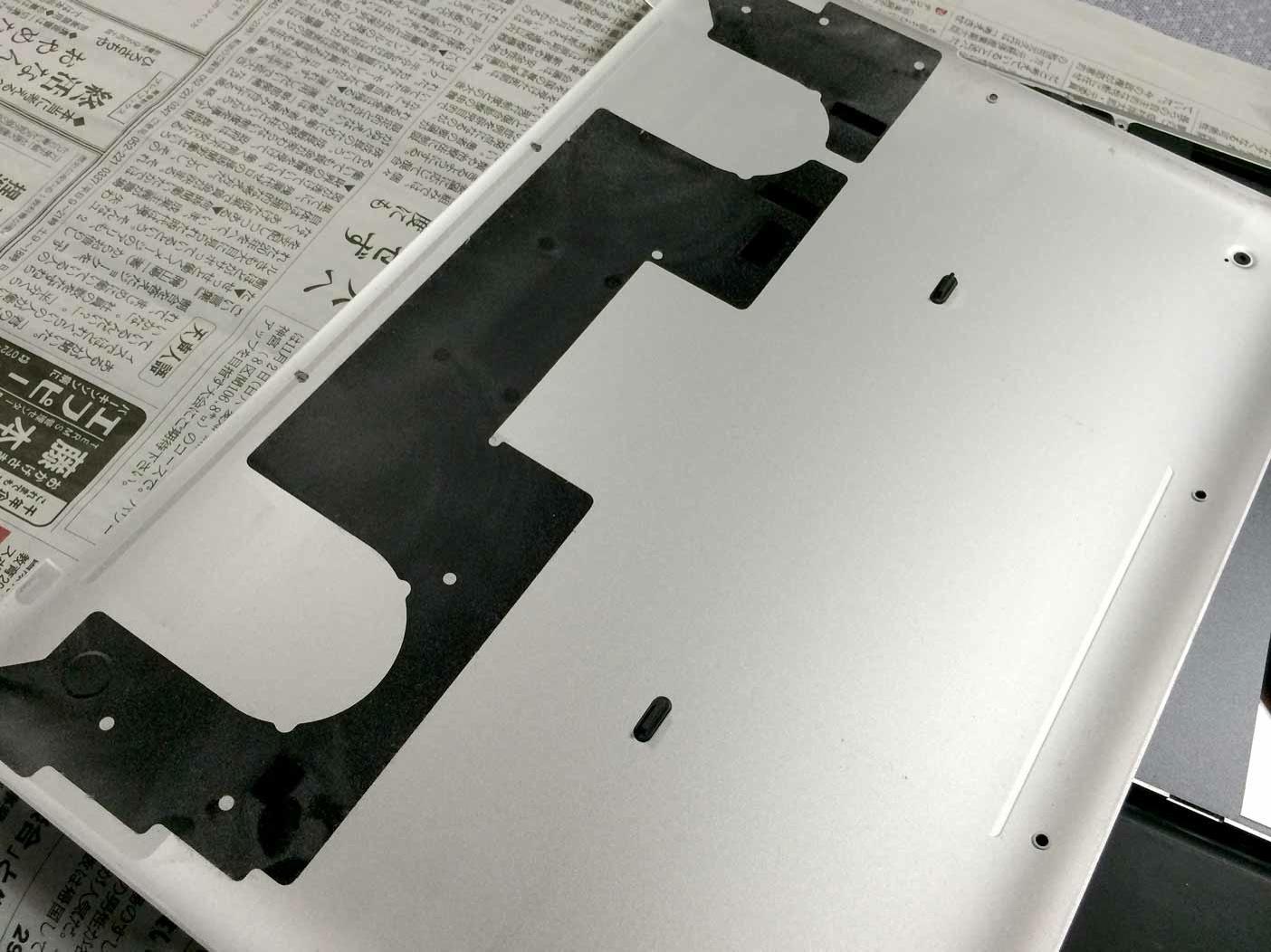 Macbookの内側の汚れ