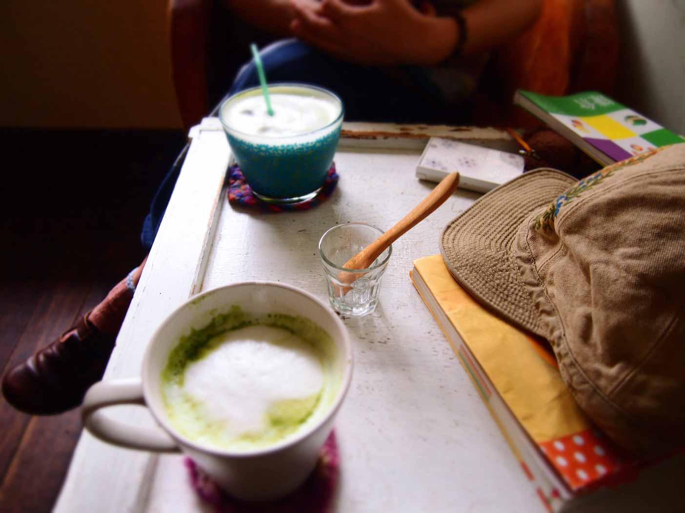 カフェ坂の下・抹茶ラテ