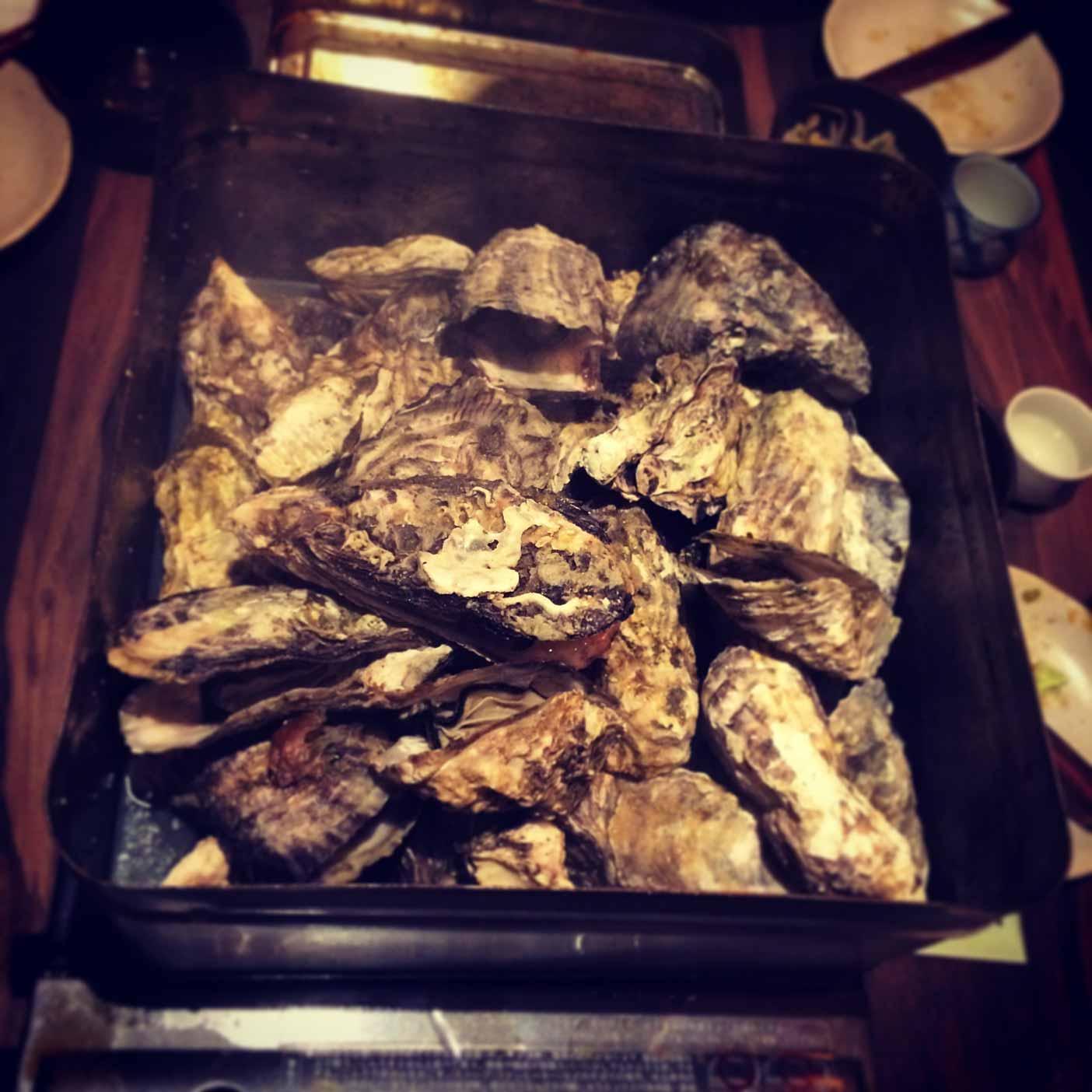 忘年会で食べた牡蠣