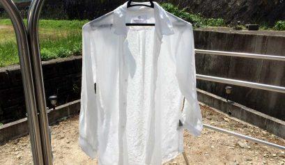 お盆休みと白シャツ