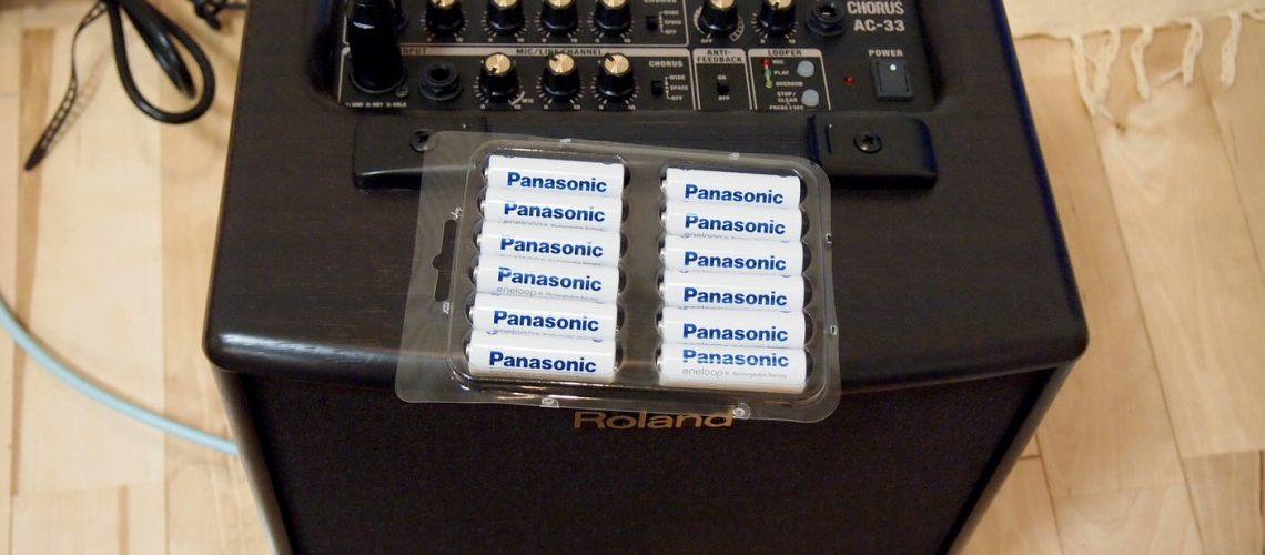 Roland AC-33とエネループ