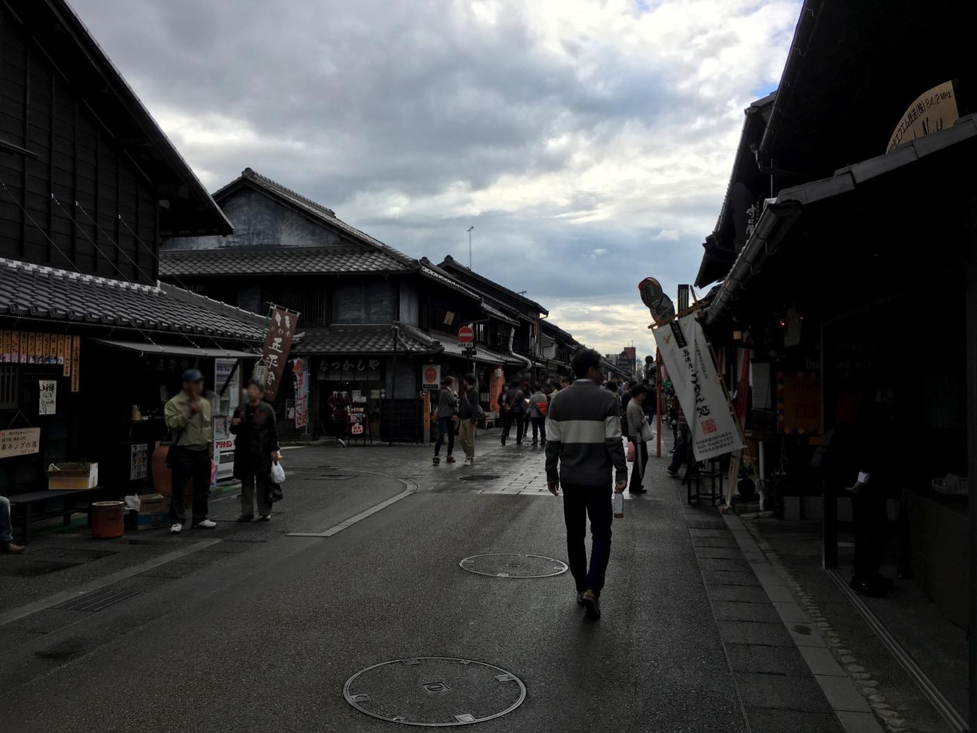 犬山・城下町の本町通り