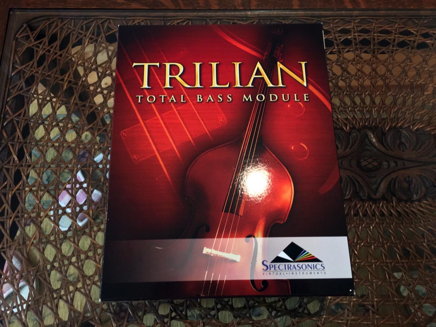 最高のベース音源、Trilianのパッケージ