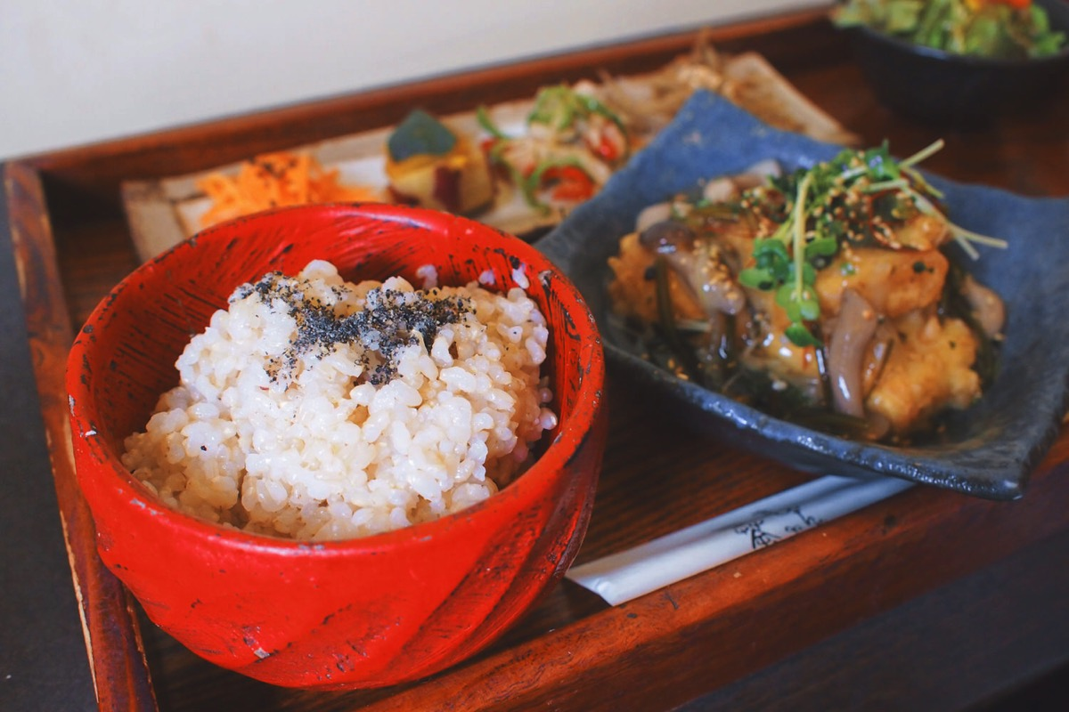 揚げ豆腐ランチ